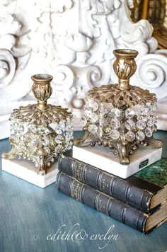 Vintage Pr Hollywood Regency Candle Holders by edithandevelyn