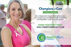 Health Mart Pharmacy's Champions of Care Challenge is on! Do you know someone who is making their community healthier? Nominate them to #win up to $30K in grants! http://budurl.com/healthmartsocial #HealthMartCares