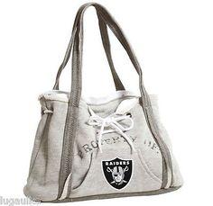 NEW - NFL Football Team Oakland Raiders Sweatshirt - Hoodie Purse Handbag