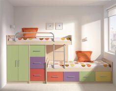 Modelos de camarotes para niños | Dormitorio - Decora Ilumina