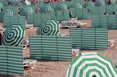 La plage de Koksijde en Belgique. Beach in Koksijde, Belgium