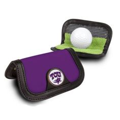Texas Christian Horned Frogs Pocket Ball Cleaner (Set of 2): The NCAA Texas Christian Horned Frogs Pocket Golf Ball Cleaner… #onlinesports