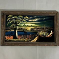 Find many great new & used options and get the best deals for Vintage Black Velvet Art Mexico Nature Landscape Original Wood Frame 22X15 at the best online prices at eBay! Free shipping for many products! Vintage Horse, Vintage Black, Vintage Art, Original Art, Original Paintings, Art Paintings, Large Framed Art, Velvet Painting, Landscape Artwork