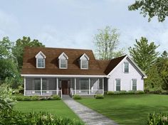 The Shepherd Valley Country Home has 3 bedrooms, 2 full baths and 1 half bath. See amenities for Plan 140D-0010.