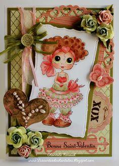 Les cartes de Chantalou   D�fi de Carte de St-Valentin My Besties pour ma grande fille Joannie!     Voici ma derni�re carte, une carte de St-Valentin  pour ma fille Joannie!  Avec ses beaux cheveux ...