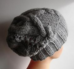 cable knit hat slouchy women and men  High Heat Cap  by Ifonka, $28.00