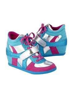 Justice shoes for girls | Glitter High Top Wedge Sneakers | Girls ...