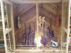 Click this image to show the full-size version. Guitar Room, Guitar Case, Guitar Humidifier, Guitar Display, Guitar Cabinet, Home Theater, Home Appliances, Basement, Collections
