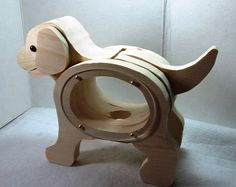 Craft Supplies, Ready To Finish, Sweet Puppy Dog , Coin Bank, Handmade, Creative, Talent, Gift on Etsy, $20.00