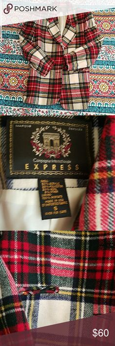 Vintage Express Tartan Wool Blend Blazer SZ Small Amazing vintage blazer. Size small. Tartan wool. Excellent used condition. Express Jackets & Coats Blazers