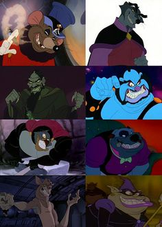 What villainy looks like to Don Bluth's animation studio: | What Evil People Look Like, According To ClassicCartoons