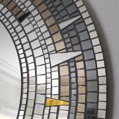Eternal Gold Mosaic Round Wall Mirror by Mirror Envy - SHINE MIRRORS AUSTRALIA