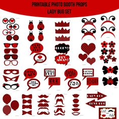 Instant Download Lady Bug Love Bug Printable Photo Booth Prop Set for $4.99 #onselz
