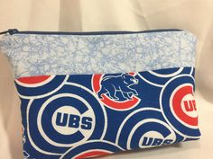 Chicago Cubs Cosemtic/Make Up Bag/Pouch by MommyMaryCrafts on Etsy
