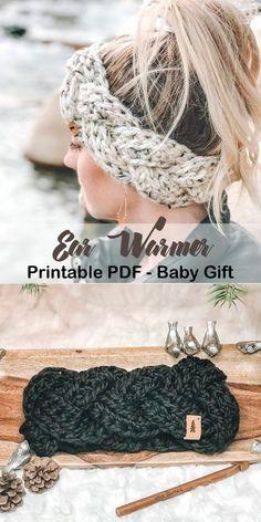 Make a Cozy Ear Warmer - Crochet patterns - Hybrid Elektronike Make a C. Make a Cozy Ear Warmer – Crochet patterns – Hybrid Elektronike Make a Cozy Ear Warmer Crochet Ear Warmer Pattern, Crochet Headband Pattern, Crochet Beanie, Crochet Ear Warmers, Easy Crochet Headbands, Chunky Crochet Scarf, Knitted Headband, Baby Headbands, Crochet Gifts