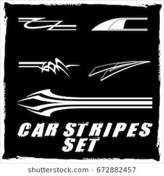 Tribal and cool Car stripe set top print on vinyl and adhesive on vehicle Race Car Stickers, Motorcycle Tank, Best Luxury Cars, Geometric Lines, Mtb, Cool Cars, Race Cars, Stencils, Adhesive