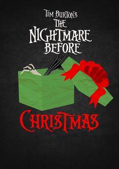 The Nightmare Before Christmas (1993) - Minimal Movie Poster by Helen Flight #minimalmovieposters #alternativemovieposters