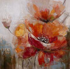fleurs en peinture abstraite - Recherche Google
