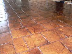 Spacious Wood Grain Floor Tile