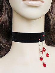 ruční černý samet gothic lolita náhrdelník s če... – EUR € 9.99