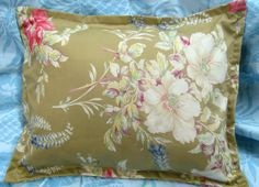 Ralph Lauren fabric Custom STANDARD Shams BOATHOUSE FLORAL Light Brown Floral | eBay