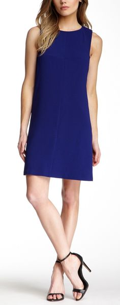 Beautiful Blue Shift Dress. Perfect for a cocktail party or date night out.