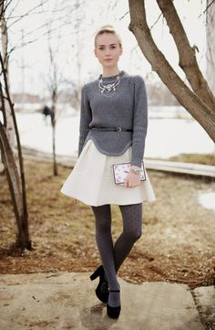 Style n Class. Skirt and Sweater Nylons, Helena Bordon, Wool Tights, Anna Dello Russo, Paris Chic, Giovanna Battaglia, Glamour, Tights Outfit, Sarah Jessica Parker