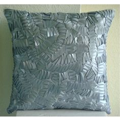 Luxury Silver Throw Pillows Cover for Couch, Modern Solid... https://www.amazon.com/dp/B004W0F324/ref=cm_sw_r_pi_dp_x_H1PrybF969M0B