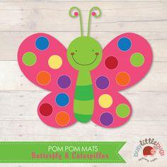 Butterfly-Pom-Pom-Mats-by-Busy-Little-Bugs.jpg (570×570)
