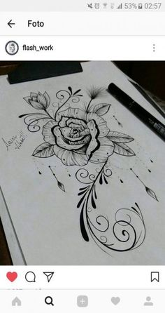 Sexy Tattoos For Women Source tattoo designs, tattoo, small tattoo, meaningful tattoo, tattoo ar Sexy Tattoos For Women, Tattoo Designs For Women, Trendy Tattoos, Unique Tattoos, Tattoos For Guys, Henna Designs, Feather Tattoos, Leg Tattoos, Flower Tattoos