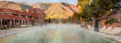 Glenwood Hot Springs Resort—the old historic geothermal attraction in Glenwood Springs, Colorado—is preparing to break ground on. Dinosaur National Park, Road Trip To Colorado, Denver City, Train Route, Continental Divide, Lake Powell, Spring Resort, Rocky Mountain National Park, Hot Springs