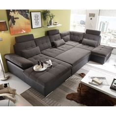 Corner Sofa Living Room Layout, Living Room Furniture Arrangement, Living Room Sofa, Jakarta, Simple Furniture, Furniture Styles, Canapé Design, Interior Design, Zweisitzer Sofa