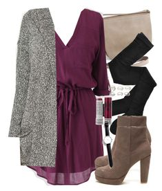 """""""Lydia Inspired Fall Outfit"""" by veterization ❤ liked on Polyvore featuring Fogal, Forever 21, Korres and CLUSE"""