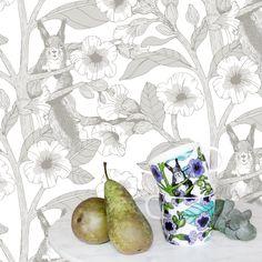Toivo by Vallila - Grey - Wallpaper : Wallpaper Direct