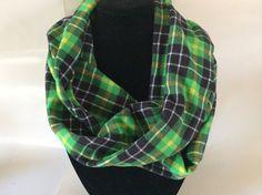 Tartan plaid cowl, Tartan plaid infinity scarf, Plaid flannel infinity cowl, Tartan cowl loop, BOHO chic infinity wrap, Fashion accessory by SweeterDreamsandMore on Etsy