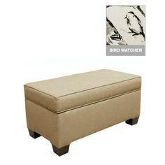 Custom Alder Upholstered Storage Bench