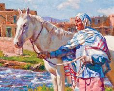 Centennial of New Mexico Statehood, January 6, 2012 Gregory Frank Harris Taos Man Oil on Linen Panel 16 x 20 Courtesy Michael Smith Gallery