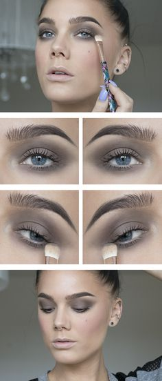 Taupe makeup idea - never tired of cold dark brown