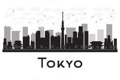 #Tokyo #City #skyline #silhouette by Igor Sorokin on @creativemarket