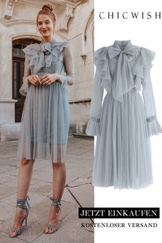 Floral and Ruffle Bowknot Tulle Dress - Outfits Women Mesh Dress, Tulle Dress, Dress Skirt, Dress Up, Knot Dress, Mode Outfits, Dress Outfits, Fashion Dresses, Mode Ootd