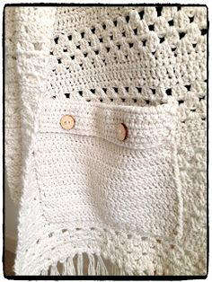 MadebYvon: Scarf with pockets and pattern Crochet Ear Warmer Pattern, Granny Square Crochet Pattern, Crochet Patterns, Easy Crochet, Knit Crochet, Crochet Hats, Crochet Cardigan, Crochet Scarves, Crochet Shawls And Wraps