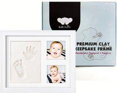 Baby Leon Premium Footprint Kit Best Baby Shower Gift for Newborn, Frame Only, Baby Handprint Kit, Our Baby, Footprint, Toy Chest, Baby Shower Gifts, Frame, Handmade, Etsy, Picture Frame