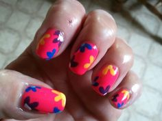 My Hippi Nails lol Inspired by Robin moses
