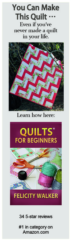 Best-selling guide for beginning quilters is available as an ebook or in paperback on Amazon.com.