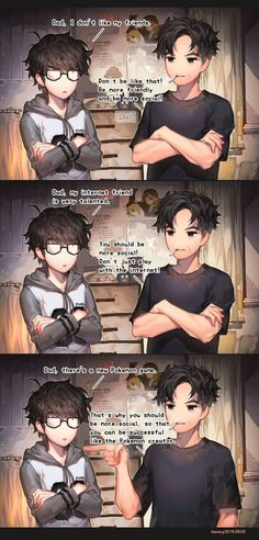 Be more social ! by kawacy on DeviantArt Be more social ! by kawacy on DeviantArt Comic Manga, Manga Comics, Don G, Artist Problems, Dad Advice, Funny Memes, Hilarious, Pokemon, Comics Story