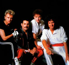 fuckyeahmercury:  Queen in Japan, 1985.Photo by Koh Hasebe