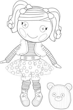I don't know who lalaloopsy is but she would be great digitally printed out for Copic coloring and some mini button eyes. more coloring pages here: https://www.facebook.com/media/set/?set=a.174651195925731.43509.174636129260571=3