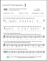Free Printable Music Worksheets | Opus Music Worksheets | Music Theory Worksheets - Music Theory Worksheet 10 - Time Signature 3/4