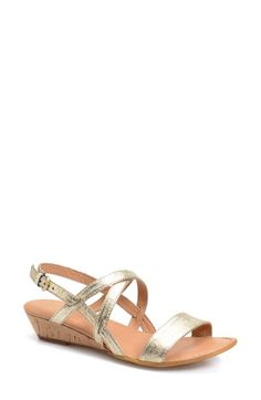Børn 'Porta' Low Wedge Sandal (Women) available at Low Wedge Sandals, Low Wedges, Slingback Sandal, Fashion Shoes, Nordstrom, Slip On, My Style, Leather, Vegas