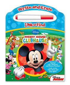 Look what I found on #zulily! Mickey Mouse Clubhouse Write & Erase Look & Find Board Book #zulilyfinds